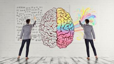 كيفية معالجة المعلومات في كل من نصفي الدماغ الأيسر والأيمن