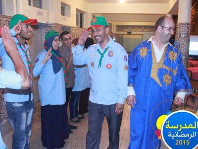 للمرة الثانية كشاف المغرب ينظم مدرسة رمضانية مع المدرب أول عادل عبادي