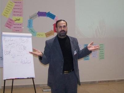 The test of the trainee Mustafe Al-Aaraj