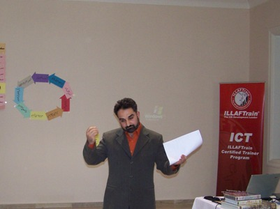 Trainee Mohammad Zabadieh during the ICT test