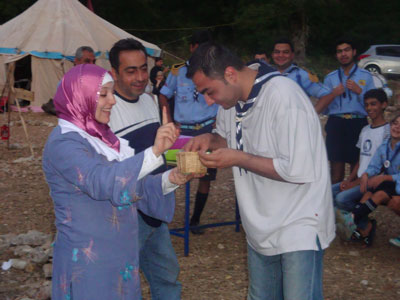القائد بشار والقائد فادي يتنافسان أثناء احدى المسابقات