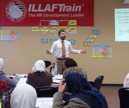 Trainer Mohammad Pedra while elaborating the course