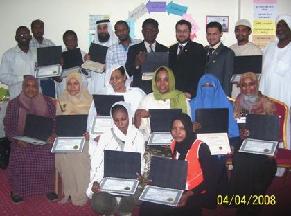 A group photo of ICT course-Khartoum_ April 2008