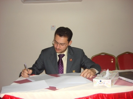 Trainer Tony Peter while correcting the test