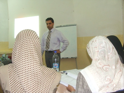 Trainer Basel Alnassar during the course