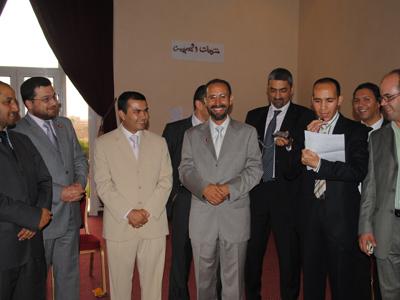 وقام المدرب عبد الغني العزوزي بالمشاركة بكلمات الختام.