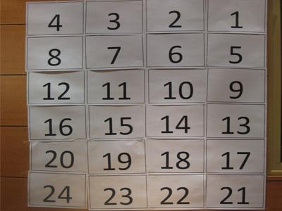 – صورة لوحة الأرقام التي تم استخدامها لتحديد رقم السؤال في البرنامج التلفزيوني