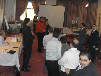 the tug of war was used to determine which country will begin the negotiation.