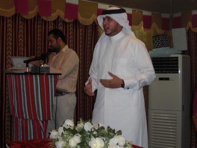 الأستاذ صالح السعدى عضو مجلس الأدارة أثناء تقديمة كلمة تهنئة بإختتام الدورة.
