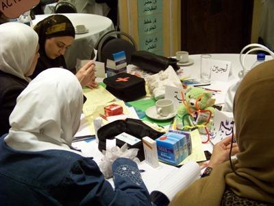استعراض المتدربين للوصفات الطبية