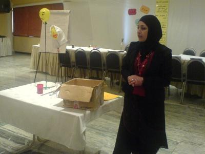 Trainee Julia Shriki is presenting the