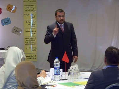 Trainer Mohammad Pedra is opening the workshop