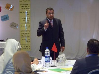 المدرب محمد بدرة يفتتح الورشة