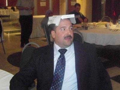 المتدرب زياد الحسيني أثناء أحد التمارين