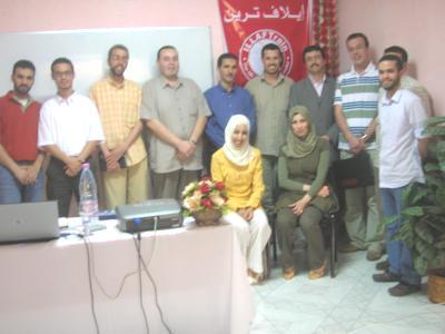 صورة جماعية مع المدرب سمير كوحيل