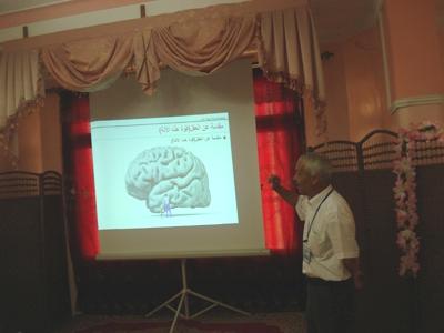 الدكتور رمضان في شرح علمي للدماغ