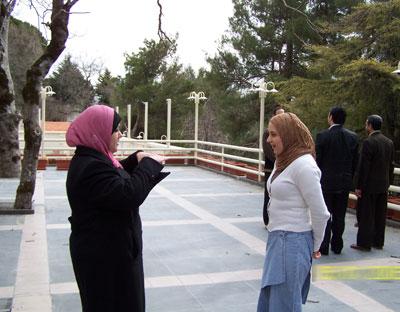 Trainee Lujain  Aljazaerly (right) - Trainee Eeman  Hairan (left) doing exercises