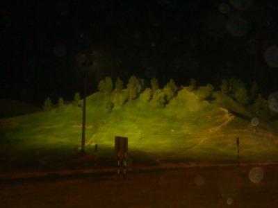 جبال مبزرة الخضراء المنتشرة على طول الطريق