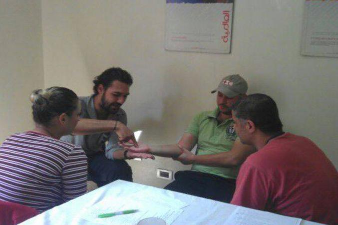 سوريا - دمشق: إنتهاء دورة البرمجة اللغوية العصبية في الهلال الأحمر - جرمانا للمدرب د.محمد عزام القاسم