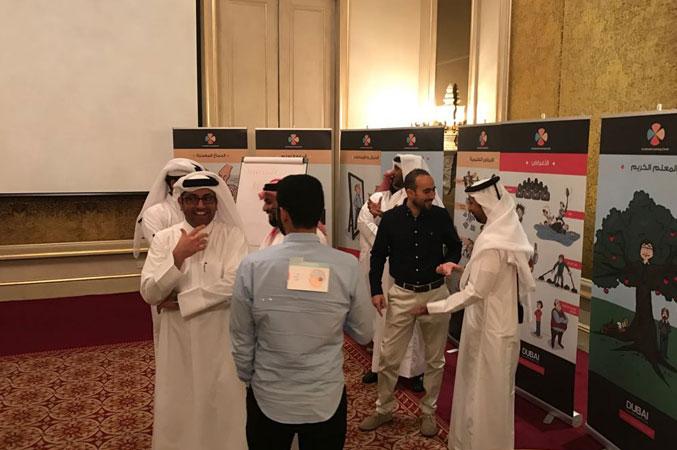 تقسيم المتدربين إلى مجموعات والعمل على تنفيذ التمرينات والتطبيقات والاستعانة بالبطاقات واللوحات.