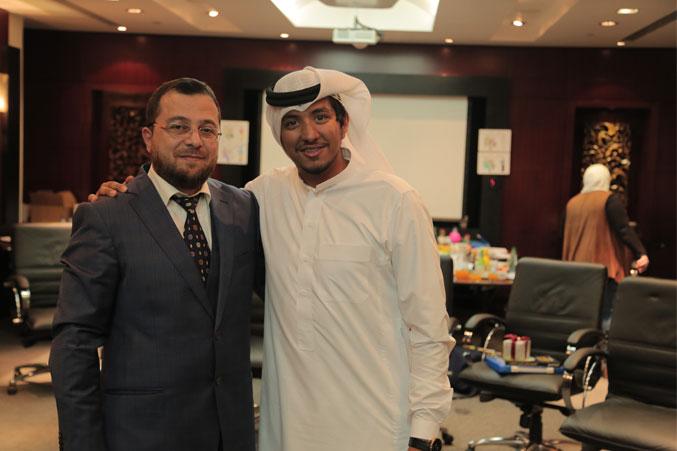 الدكتور محمد بدرة والمدرب محمد فدعق في صورة للذكرى