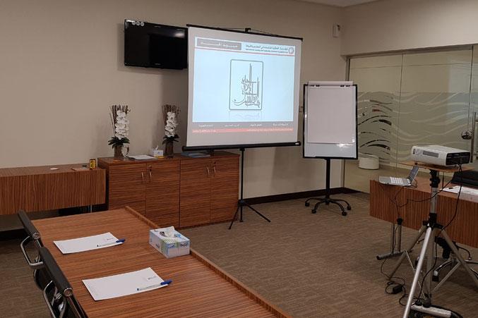 تجهيز قاعة التدريب