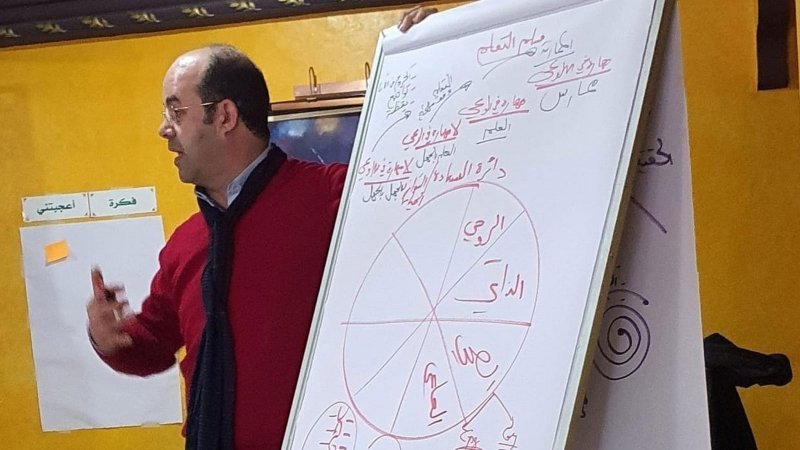 شرح المدرب عادل لأحد محاور الدورة