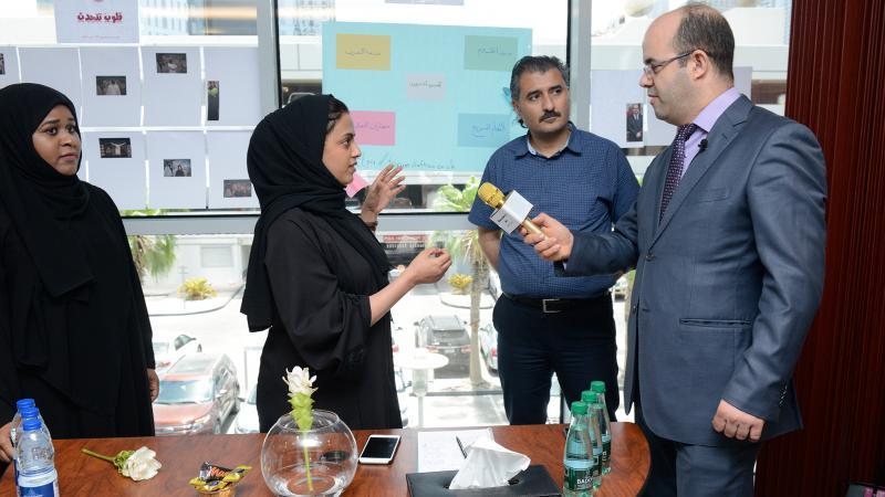 المدرب عادل عبادي ومشاركته في أنشطة البازار