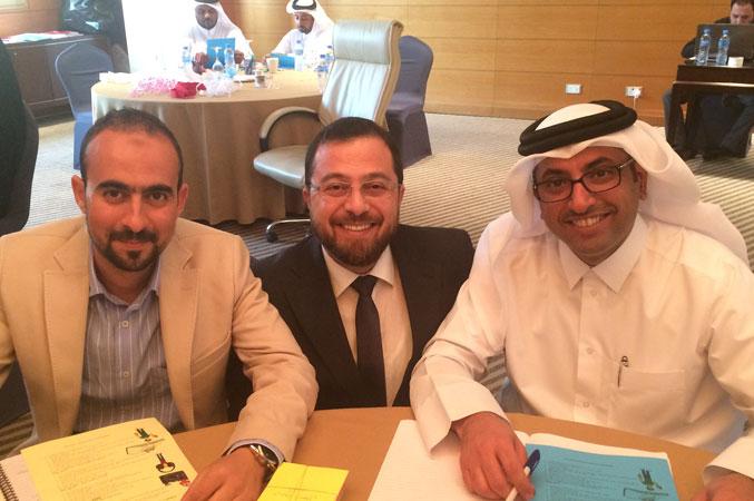 الدكتور محمد والمدرب حمد والمدرب عبد الكريم وأجواء المتعة والسرور