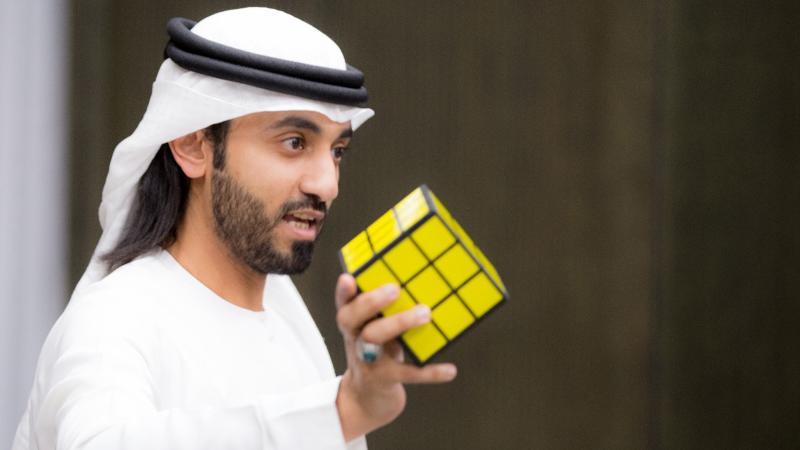 المدرب الخبير ماجد بن عفيف أثناء حفل الختام