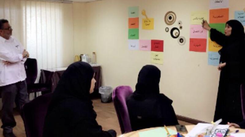 استثمار قاعة التدريب واستخدام الصور الجدارية في الشرح
