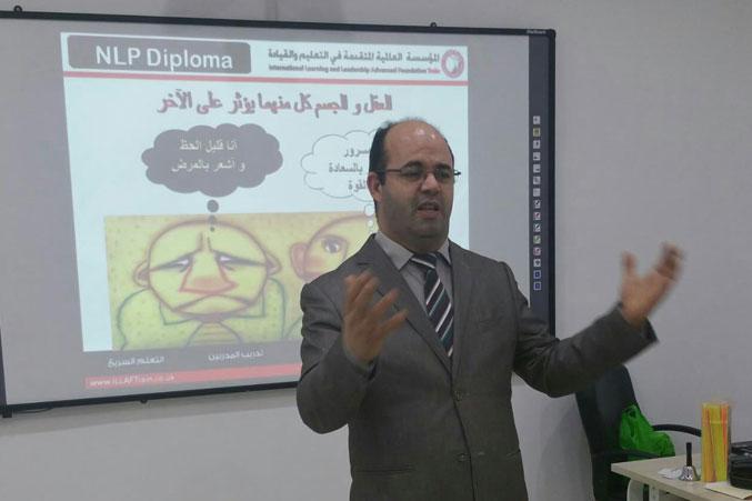 المدرب أول عادل عبادي أثناء الشرح