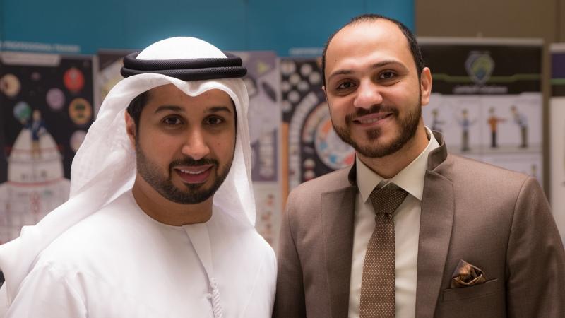 المدرب أول فيصل بن حريز  مع الأستاذ عمرو في صورة للذكرى