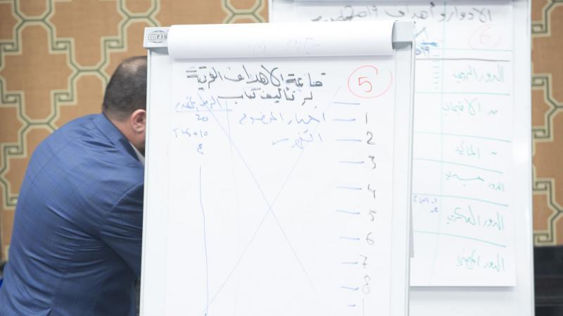 استخدام أدوات التدريب في شرح المحاور