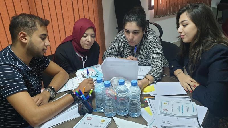 تقسيم المتدربين إلى مجموعات من أجل تنفيذ التمرينات