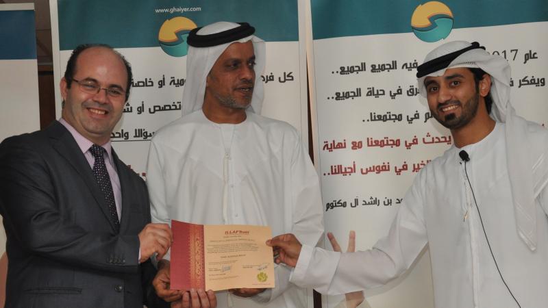 المدرب أول ماجد والمدرب أول عادل يسلمان السيد عبد العزيزالعلي شهادته