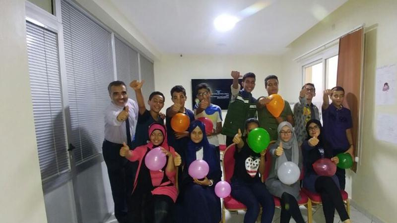 صورة جماعية من قاعة التدريب