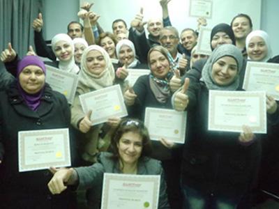 سوريا - دمشق: إختتام دورة أسرار التدريب وكواليسه مع المدرب الاستشاري محمد عزام القاسم