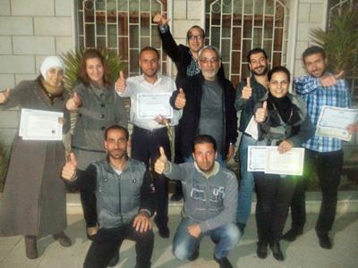 سورية - دمشق: انتهاء دورة المدرب الفعال مع المدرب الإستشاري د.محمد عزام القاسم