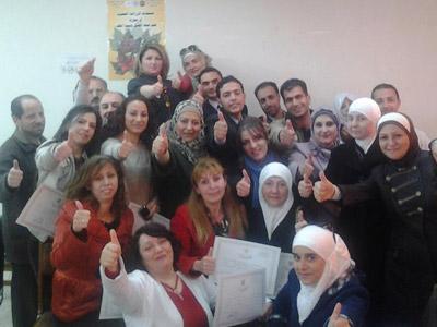 سوريا - دمشق: إختتام دورة دبلوم البرمجة اللغوية العصبية للمدرب طارق السعدي