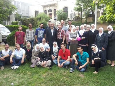 سوريا - دمشق:  إبتسامة تشرين في دورة استراتيجيات التواصل للمدرب محمد زياد الوتار