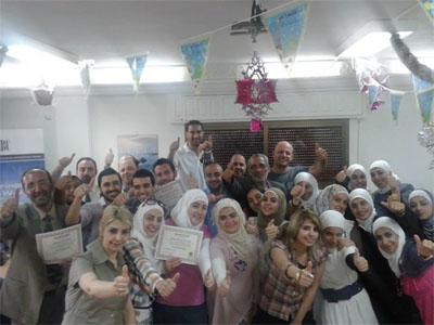 دمشق - سوريا: إختتام دورة البرمجة اللغوية العصبية للمدرب الاستشاري محمد عزام القاسم