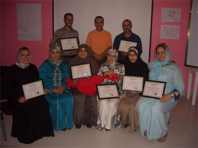 أكادير - المغرب: الأذكياء العاطفيون يتخرجون من دورة دبلوم الذكاء العاطفي مع المدرب ادالكاهية عبد الله