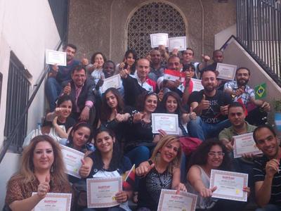 سوريا - دمشق: اختتام دورة مونديال لغة الجسد للمدرب همام هندي والمدرب المساعد فراس صفر.