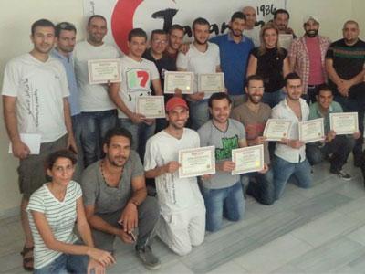 سورية - دمشق: دورة إدارة الضغوط لصالح متطوعي الهلال الأحمر (جرمانا)