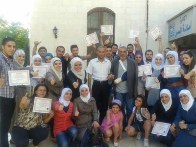 سوريا - دمشق: اختتام دورة البرمجة اللغوية العصبية للمدرب عزام القاسم في ظروف خاصة