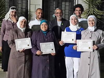 سوريا - دمشق: إنتهاء دورة البرمجة اللغوية العصبية للمدربين بإشراف وقيادة المدرب محمد عزام القاسم