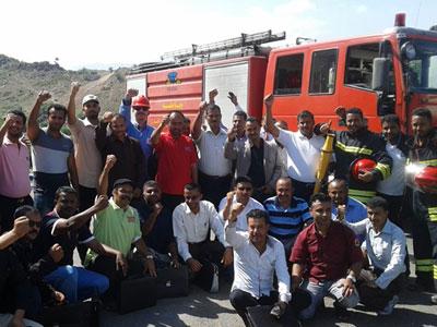 اليمن - تعز: دورة الحرائق وكيفية مكافحتها للمدرب أحمد السعدي