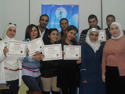 سوريا - دمشق: إختتام دورة دبلوم البرمجة اللغوية العصبية مع المدرب طارق السعدي