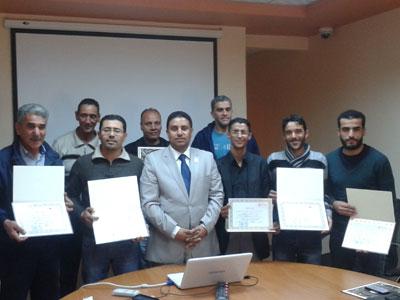 ليبيا - طرابلس: اختتام دورة السلامة الصناعية في المنشآت النفطية التي قدمها المدرب جمعة محمد سلامة